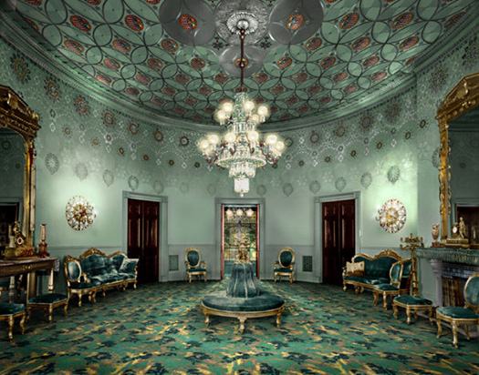 Computer reconstruction of The Blue Room in The White House, circa 1886, Nest magazine, 2000.