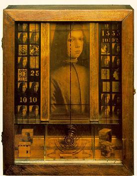 Joseph Cornell, Medici Boy, 1943. Wood box construction using elements from Pinturicchio's Portrait of a Boy, ca. 1500.