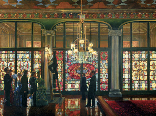 Peter Waddell, The Grand Illumination, Sunset of the Gaslight Age, 1891. oil on canvas, White House Historical Association.
