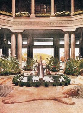The Central Hall, Courtyard & Fountain.