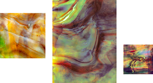 "John D'Agostino, Thunderclap of Halt, 2012. Triptych: 44x44"" + 77x60"" + 30x30"""