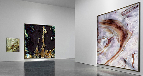 Installation view of new works by John D'Agostino from Empire of Glass.