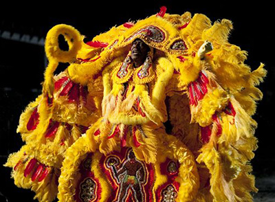 Actor Clarke Peters as Mardi Gras Indian chief Albert Lambreaux in Treme.