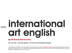 Rule & Levine's brilliant takedown of artspeak: International Art English